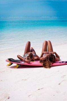 Pink Surf Board