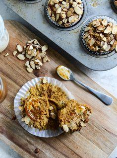 Whole Wheat Pumpkin Almond Muffins