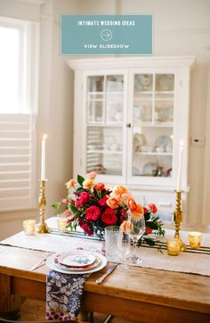 Thinking of an intimate wedding? Read Style Me Pretty's Tips on Personalizing the Big Day: http://www.StyleMePretty.com/2014/02/18/ideas-for-an-intimate-i-do/