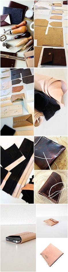 Handmade minimalist mens wallet, women wallets #handmadewallet | Prim Object Leather Craft designs and handmade minimalist leather wallets for men and women. Made in USA.