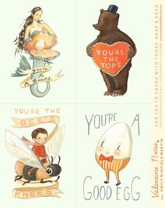 Free printable Valentines for You - From the Black Apple!