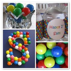 ball themed party -  would be fun to let the kids go nuts with beach balls, etc