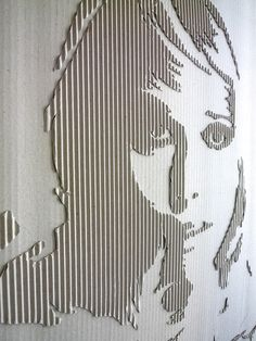 Corrugated Cardboard Jane by Andreas Scheiger