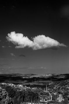 Single cloud over the valley