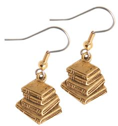 Stacked book earrings book earring, stack book