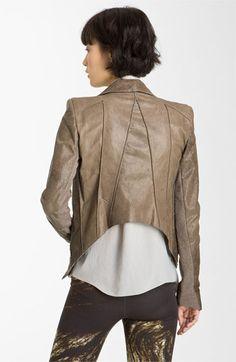 Helmut Lang 'Petrol' Leather Jacket | Nordstrom  *BACK