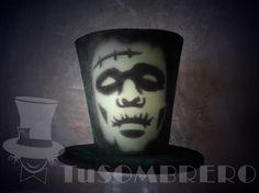 Sombrero Frankestein-Halloween en goma espuma aerografiada by @TuSombreroLoco