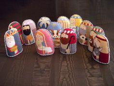 Whimsical nativity set for Needlepoint.Com
