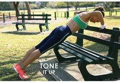 In between your run, do some push-ups with using a bench.