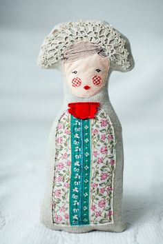 Russian princess, soft art doll and a unique piece as a perfect Christmas gift.