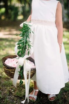 Classic flower girl dress: http://www.stylemepretty.com/little-black-book-blog/2014/11/12/intimate-southern-wedding-at-haig-point-lighthouse/ | Photography: Rach Lea - http://www.rachleaphoto.com/