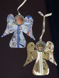 How to Make those Recycled Christmas Card Ornaments