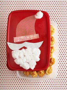 Santa-Topped Container for Appetizers