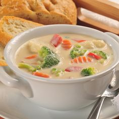 Cream of Mixed Vegetable Soup (Easy; 6 servings) #vegetable #soup