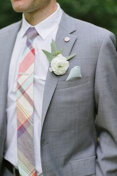 Groom's suit: Zara / Groom's tie: J. Crew - English Inspired Milwaukee Wedding by Anna Page Photography - via ruffled