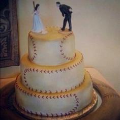 Cute baseball cake