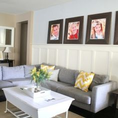Tips to decorate a living room on a budget! Lots of personal touches.
