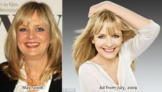Olay wants 60-year old women to believe Twiggy actually looks like the ad photo at right, which was airbrushed. #fake #real #beauty #retouch #scam #photoshop #aging #flawed