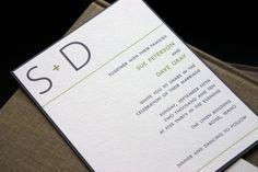 modern wedding invitation cracked designs via etsy