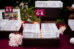 letter boxes, galleri, escort cards, place cards, name cards, baseball boys, card displays, seating cards, theme weddings