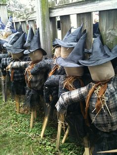 Witch Scarecrows