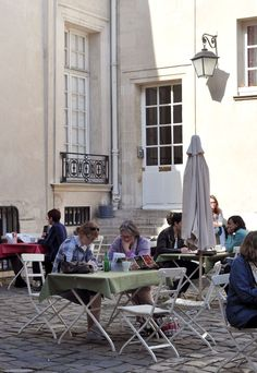 Not Quite Snow White - My favorite place in Le Marais: the Café at the Swedish Institute (SI).