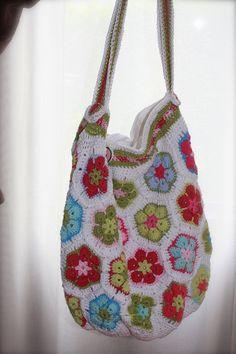 crochet summer bag patterns | African Flowers Summer bag | Flickr - Photo Sharing!