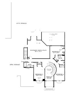 Elsworth Place Luxury Home Second Floor from houseplansandmore.com
