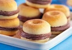Mini donuts recheados » Amando Cozinhar