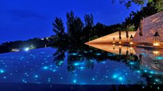 Paresa Resort: The resorts main pool has starry fiber optic lighting.