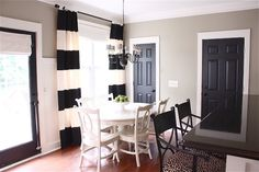DIY Black Painted Doors