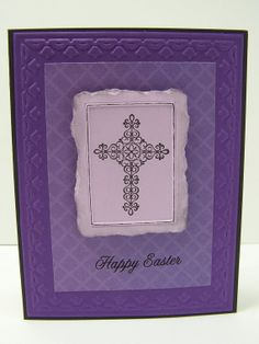 Stampin Up Handmade Greeting Card: Easter Cross Card, Christian Easter Card, Happy Easter, Spring, He is Risen