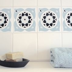 2jane.com - Mibo Tile Tattoos in Bembridge French Blue