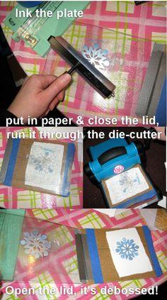 Homemade letter press.