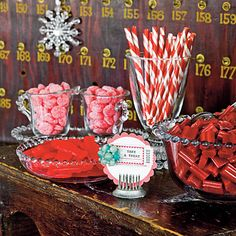 Use store-bought candies for an easy dessert bar at your next holiday gathering