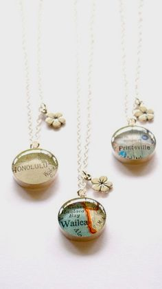 Hawaii map necklace Hawaii map jewelry bridal
