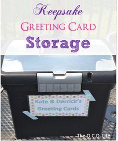 The O.C.D. Life: Keepsake Greeting Card Storage
