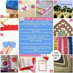 30 Free Crochet Edgings Patterns - Free Crochet Pattern Friday! All photos used with permission from the original Designers.
