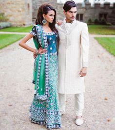 Teal & emerald Bridal