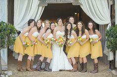 yellow + white bridesmaid dresses | Soli Photography #wedding