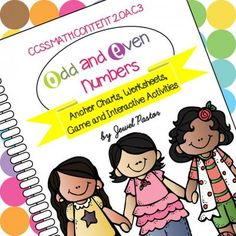 ODD AND EVEN NUMBERS: Anchor Charts, Worksheets, Game and Interactive Activities from Jewel Pastor on TeachersNotebook.com -  (40 pages)  - ODD AND EVEN NUMBERS consists of anchor charts, worksheets, a game and interactive activities that can help students learn and review on even and odd numbers.