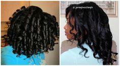 Curlformers on Relaxed Dry Hair vs Wet Hair - http://www.blackhairinformation.com/community/hairstyle-gallery/relaxed-hairstyles/curlformers-relaxed-dry-hair-vs-wet-hair/