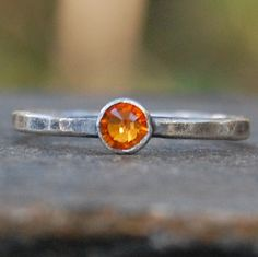 Sterling Silver and Tangerine Swarovski Crystal  by lovestrucksoul at Etsy. #Swarovski