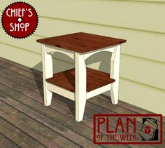 Plan of the Week: Front Porch Side Table