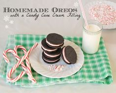 Homemade oreos with