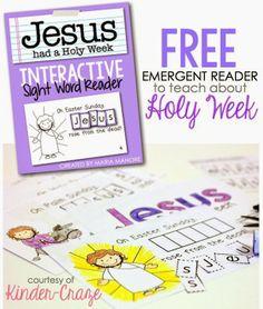 Kinder-Craze: A Kindergarten Teaching Blog: FREE Interactive Sight Word Reader for Holy Week