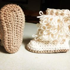 Cute #Crochet booties from audra_hooknowl