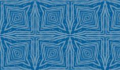 Square Faux Bois  Blue on Blue