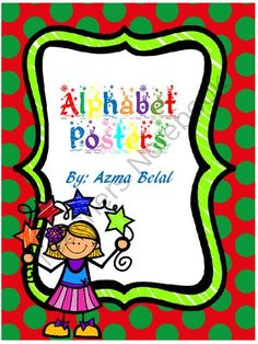 Alphabet Posters Christmas Theme from Stress Free Kindergarten on TeachersNotebook.com (29 pages)  - This file contains 26 slides