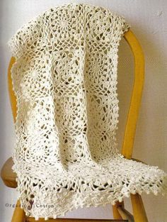 Crochet Shawls: Crochet Shawl Wrap Using Organic Cotton With Free Pattern
